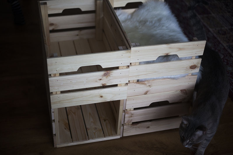 Cat Condo Diy Ikea Knagglig Kitty Box Hack