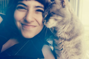 cat-kisses-girl-cute-selfie