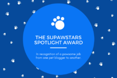 Supawstars Pet Blogger Spotlight Award! (10/2017)